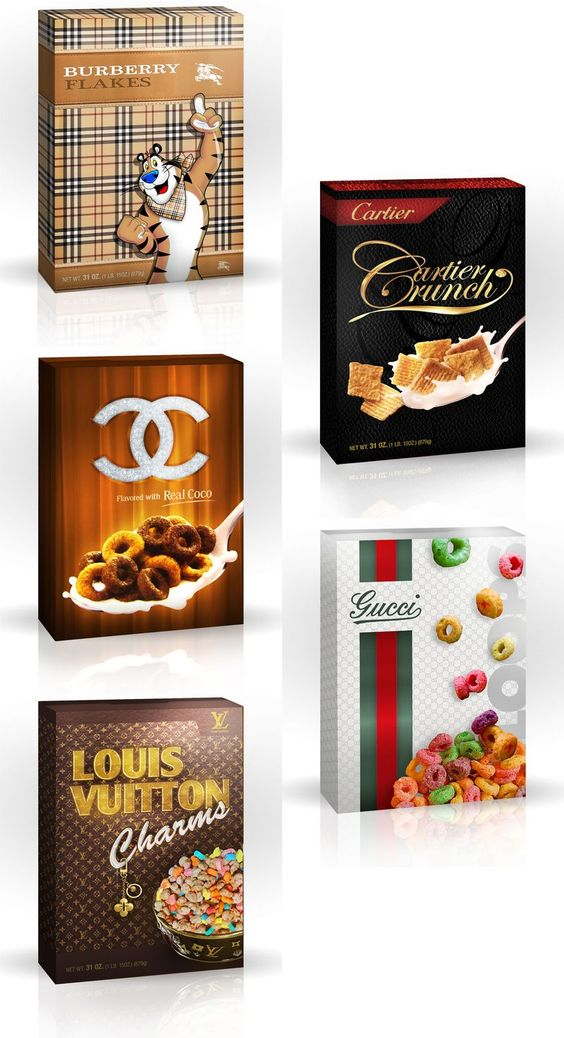 Luxury Brand Cereal Boxes