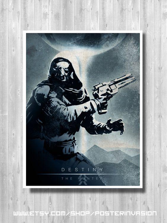 The Hunter poster - Destiny video game, Destiny print, Destiny Art, Weapon, Destiny Decor, Quality Digital Art Print