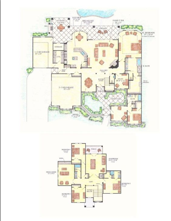 Colorado House Plans courtyard 4325, our designs, northern colorado builder, gj gardner