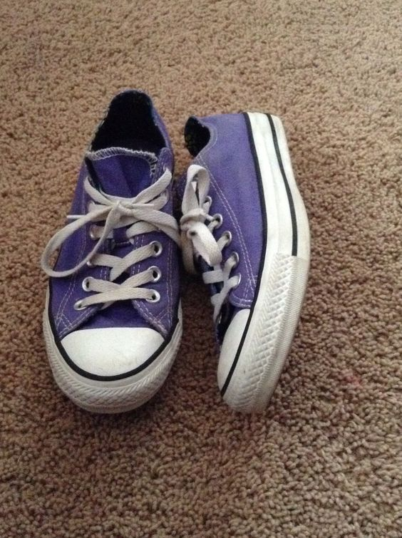 The is what your converse look like when you say you'll where the next school year but you where them now....