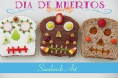 Día de Muertos Recipe for Kids: Sandwich Art on http://spanglishbaby.com/food/dia-de-muertos-recipe-for-kids-sandwich-art/