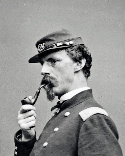 Union Officer with Pipe