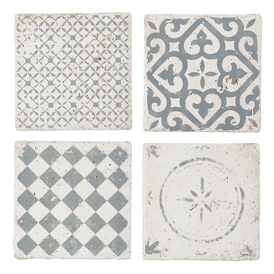 IB LAURSEN Fliesen Muster Grau 4er-Set Das könnte ich gebrauchen - fliesen oder laminat in der küche