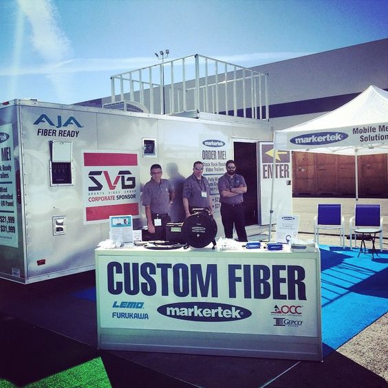 It's glorious out here! Grab some shade inside our 20 foot production trailer! #NABShow