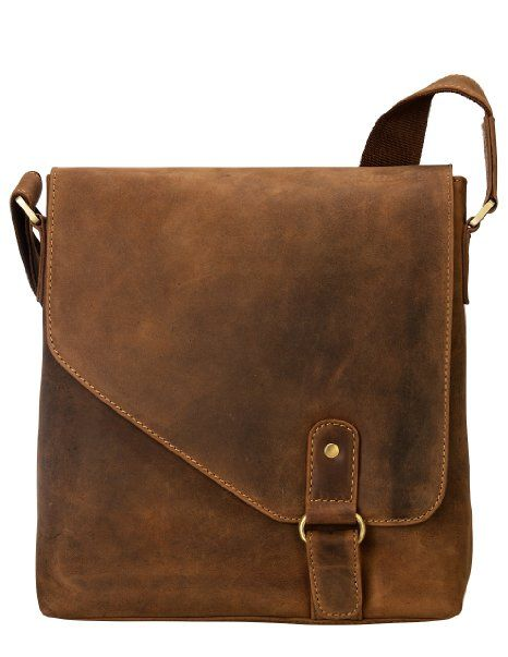 Amazon.com: Visconti 16071 Oiled Distressed Leather Messenger Shoulder Bag Hunter (Tan): Clothing