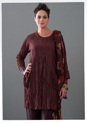 Cotton/rayon dress by Gudrun.  Simple design that could be put together fairly quickly!