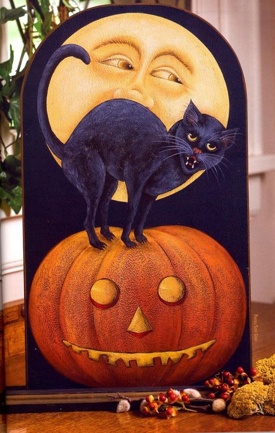 Carol Payne: Halloween Artists, Halloween Art Craft, Fun Paintings, Absolutely Love1 Halloween, Decorative Painting Pumpkins, Fall, Halloween Crafts Decor Foods, Folk Artists, Halloween Painting