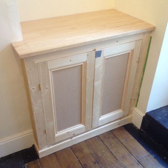 Diy alcove cupboard ready for painting pinteres for Ready built cupboards