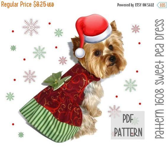 FLASH SALE Christmas Dog Dress SEWING Pattern by SofiandFriends
