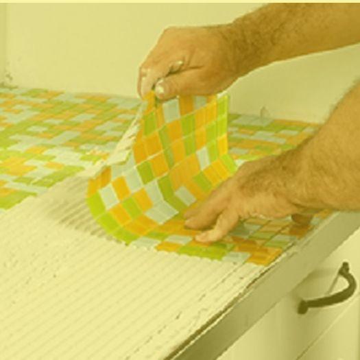 Mosaik-Fliesen als Küchen-Arbeitsplatte Lovely Mosaik - fliesenspiegel küche selber machen