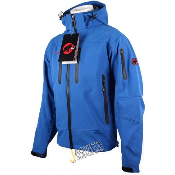 Mammut SoftShell Jacket - Mens Blue Jackets | Ski jackets for men ...