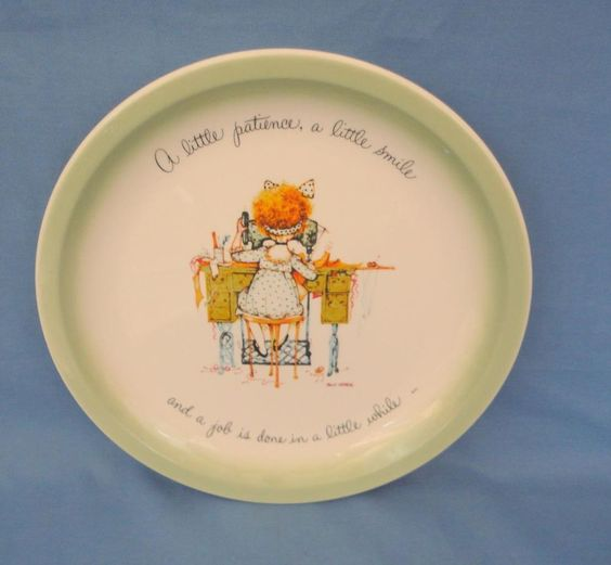 Vintage 1970's HOLLY HOBBIE COLLECTOR'S EDITION DECORATIVE PLATES USA MADE