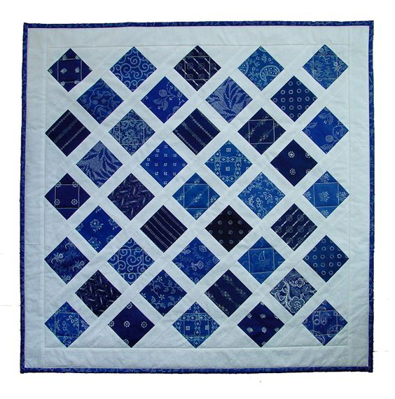 wonderful quilt using the blue fabric