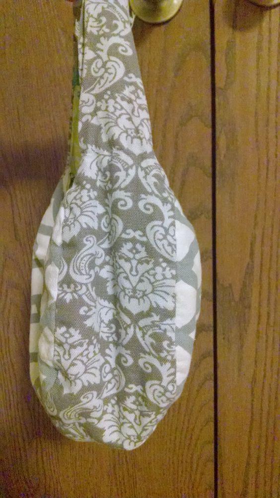 Gray and white floral Chevron purse for sale https://www.etsy.com/shop/Pursettes?ref=si_shop