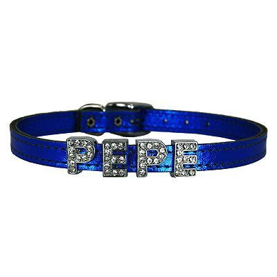 Metallic Leather Slider Dog Collar - 2
