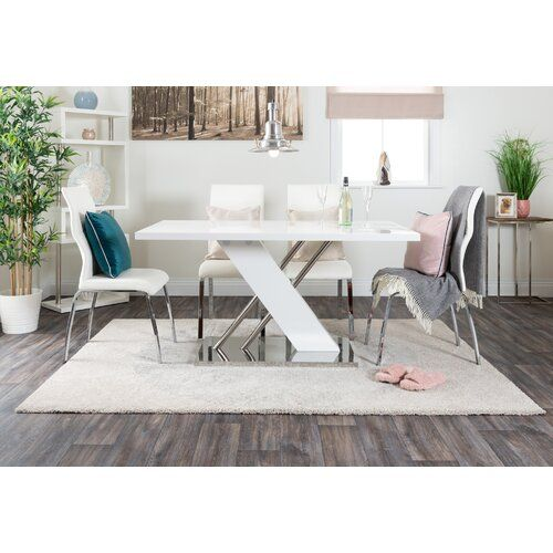 Metro Lane Trapp Dining Table With 6 Chairs Wayfair Co Uk Minimalist Living Room Decor Dining Table Living Room Decor