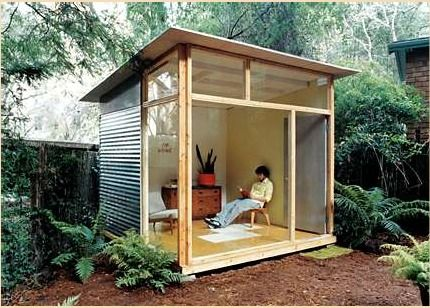Modern Garden Shed. hubby downloaded these free shed plans this AM. We'll also be amending them to create a small storage shed and wood shed as well.
