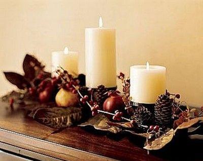 decoracion de navidad con velas Navidad Pinterest Navidad y