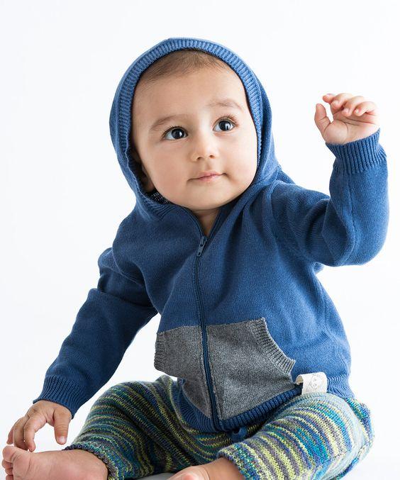 Barnen Sweden Blue & Gray Star Zip-Up Hoodie - Infant by Barnen Sweden #zulily #zulilyfinds