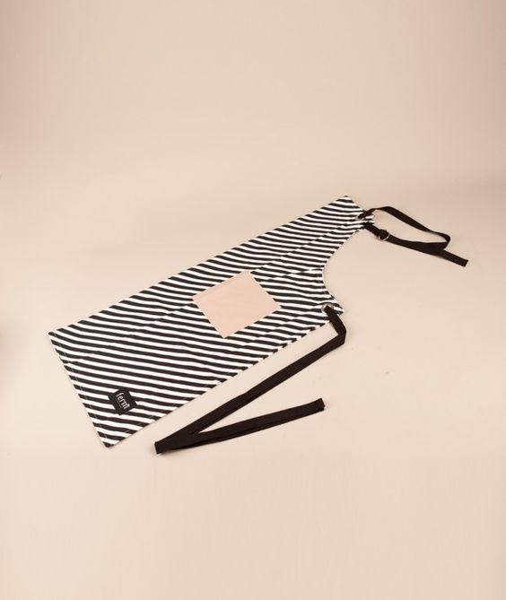 FERM Black Stripe Apron