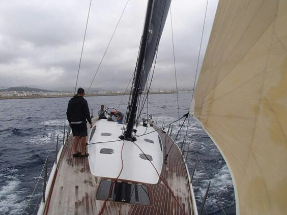#OperationsManagerRuss was out in the #BayOfPalma last week with #raceyacht #SYAragon, having had her brand new carbon fibre #rig stepped.  #RiggingInPalma www.rsb-rigging.com