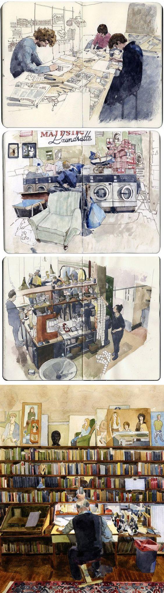 illustrated by Wil Freeborn #sketchbook #journal https://www.flickr.com/photos/ghostschool/: