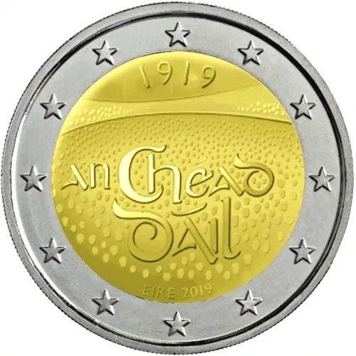 Moneda Conmemorativa 2 Euros Irlanda 2019 Dáil éireann Monedas Monedas De Plata Monedas De Oro