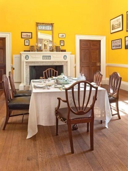 Monticello's yellow dining room