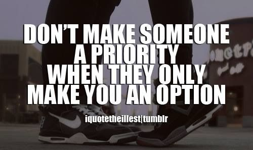 Be a priority...