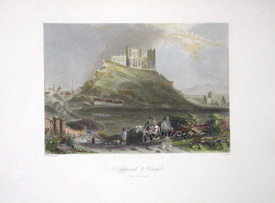 Approach to Cashel.   Bartlett Irish Views 1842