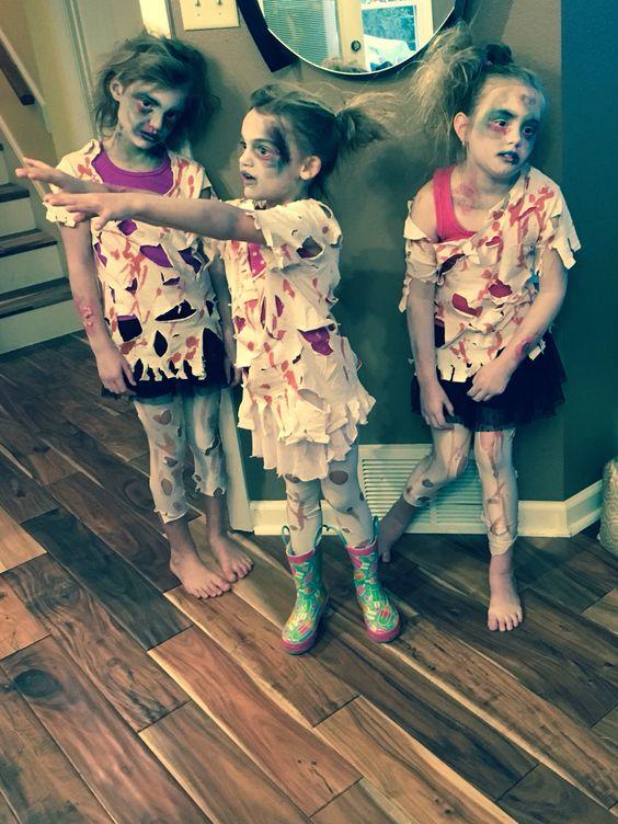 Kids Zombie Costumes Halloween Pinterest Paint Last