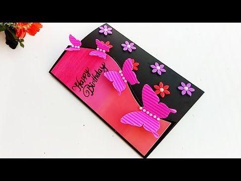 Handmade Butterfly Birthday Card Birthday Card Idea Youtube Butterfly Birthday Cards Handmade Birthday Cards Birthday Cards