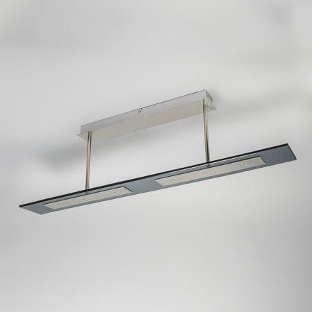 Plaf n credo 4 negro preciosa l mpara de forma rectangular hecha de vidrio negro con - Plafon led cocina rectangular ...