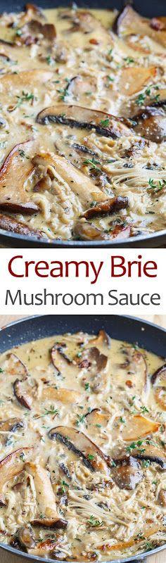 CCreamy Brie Mushroom Sauce