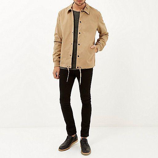 Light brown casual coach jacket - jackets - coats / jackets - men ...