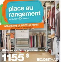 CLOSETMAID Storage from Home Depot Canada $1,155.00