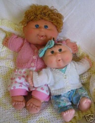Knitting Patterns For Cabbage Patch Dolls : Miss Meggy Designs - Baby Wear Knitting Patterns to suit Cabbage Patch Babies...