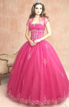 Floor-length Coat/ Jacket Strapless Ball Gown Quinceanera Dress Style Code: 00941 $194