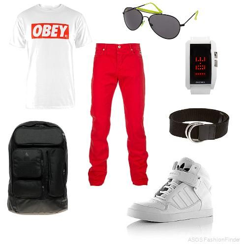 Obey !! =) | Fresh Wear | Pinterest | Menu0026#39;s outfits Red and Outfit