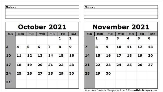 September October November 2021 Calendar In 2020 2020 Calendar Template Calendar Template Calendar Printables