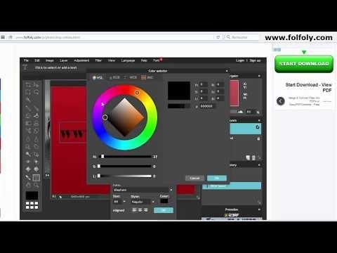 فوتوشوب اون لاين للكتابة على الصور وتعديلها بدون برامج Photoshop Online Photoshop Text Color