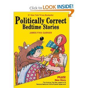 """""""14 timeless fairy tales are revisited and reworked to become relevant fables for more modern times. These hilarious adaptations satirize and sanitize the sexist, racist, nationalist, ageist, sizeist, ethnocentrist, and phallocentrist biases of classic bedtime stories. Familiar exploits of beloved characters are related from a respectful, prejudice-free perspective for example """"Snow White escapes to the cottage of """"seven vertically-challenged men.""""  More fun!"""