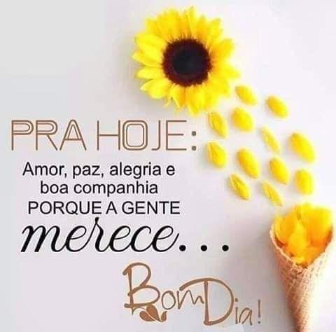 Bom Dia Frase Pra Hoje Amor Paz Alegria E Boa Companhia
