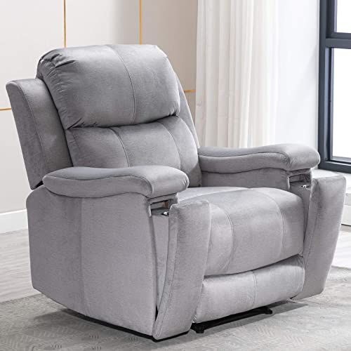 New Anj Recliner Chair Pullable Cup Holder Classic Recliner Single Sofa Home Theater Seating Light Grey Online Melyssanicefashion In 2020 Single Sofa Living Room Chairs Sofa Home