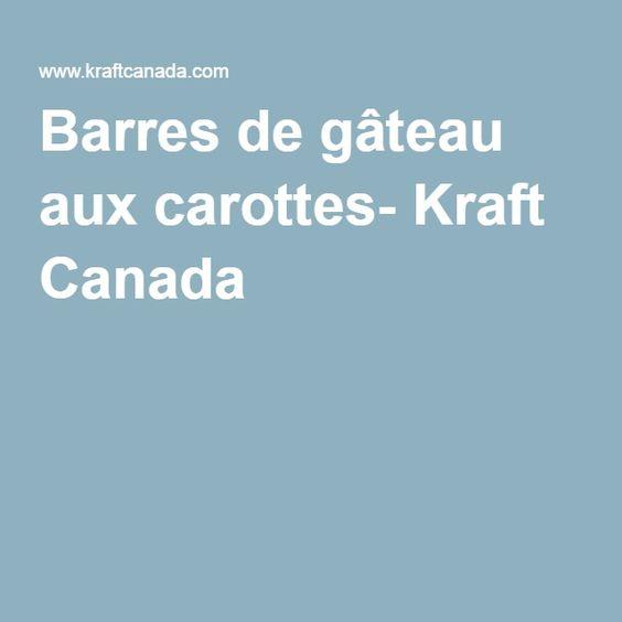 Barres de gâteau aux carottes- Kraft Canada