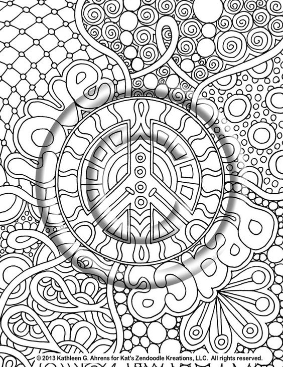 free hippie coloring pages - psychedelic hippie coloring pages