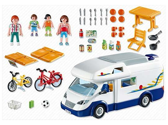 Playmobil -Grand camping-car familial - 4859 - contenu