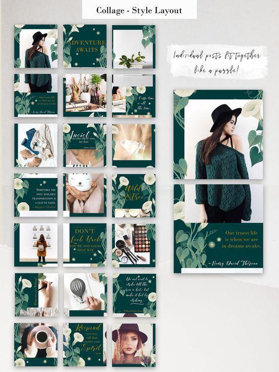 Moonflower Instagram Template Instagram Template Design