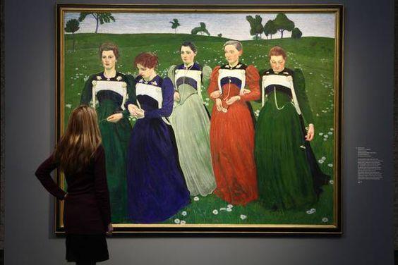 """Blick in die Ausstellung """"Ferdinand Hodler und Cuno Amiet"""""""