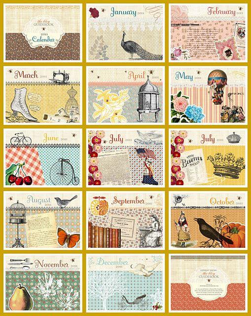 wonderful free printable calendar: 2011 Printable, 2011 Calendars, Vintage Printable, Calendar 2011, Free Printables, Printable Calendars, Free Printable Calendar